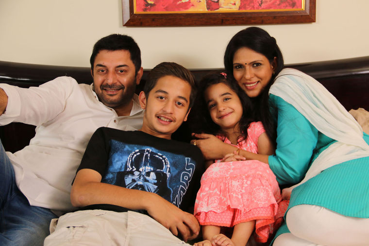 Aravind Swami family photos thinatamil -