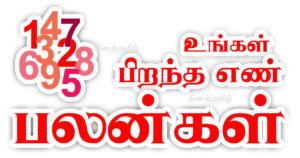 April-maatha-pirantha en palankal - Tamil Numerology