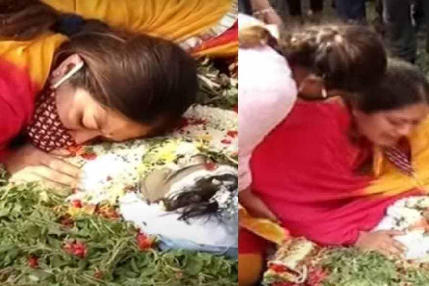 Chiranjeevi-Sarja-death-final-farewell-Meghna-Raj-thinatamil