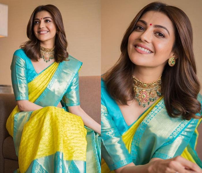 celebrity-kajal-aggarwal-in-pattu-saree-thinatamil