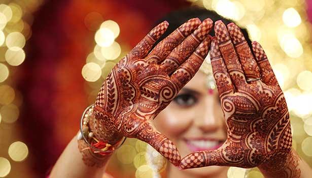Mehndi in hands