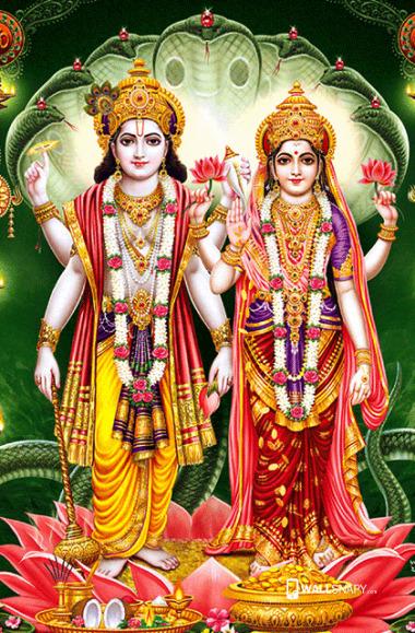 lord vishnu with mahalakshmi thinatamil -